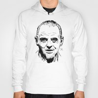 silence of the lambs Hoodies featuring Hannibal Lecter Sketch - The Silence of the Lambs by Soyarts