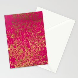 Berry and Gold Patina Design Stationery Cards