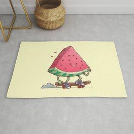 Watermelon Slice Skater Rug