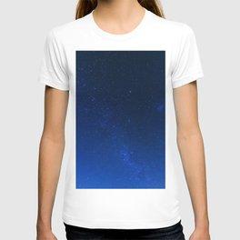 Blue Night Sky (Color) T-shirt