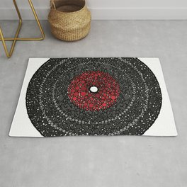 Put Your (Red) Record On - Abstract Rug