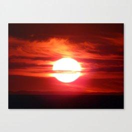 Fireball Above the Saint-Lawrence Canvas Print
