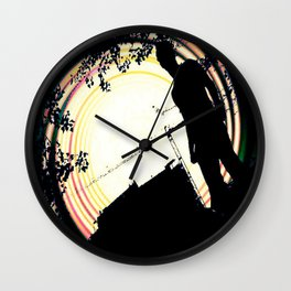 man on the roof Wall Clock
