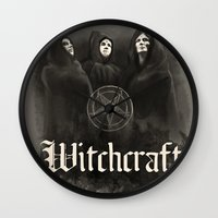 witchcraft Wall Clocks featuring Witchcraft by Corpse inc