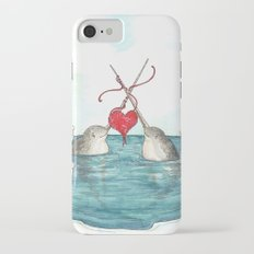 Knitting Narwhals iPhone 7 Slim Case
