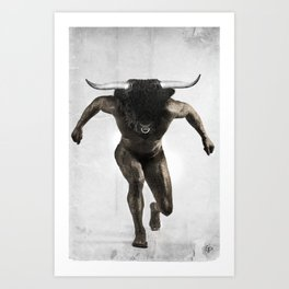 Minotaur {Mythographic series} Art Print