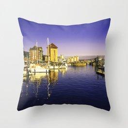 Swansea Marina Reflections Throw Pillow