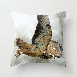 buzzard in the sky Throw Pillow