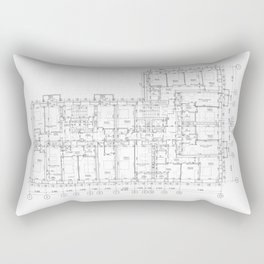 Detailed architectural floor layout Rectangular Pillow