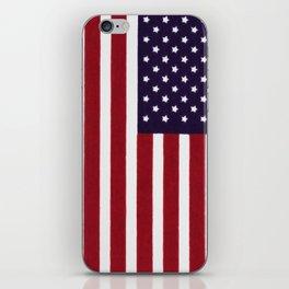 "Stars & Stripes flag, painterly ""old glory"" iPhone Skin"