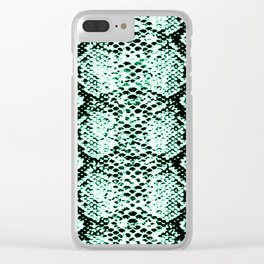 snake edgy green Clear iPhone Case
