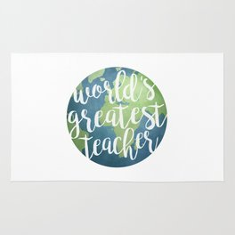 World's Greatest Teacher Rug