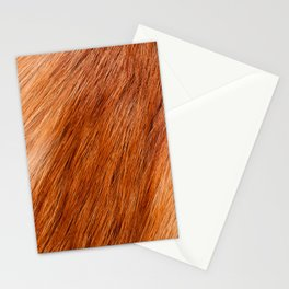 Red fox hairy fur texture cloth Stationery Cards