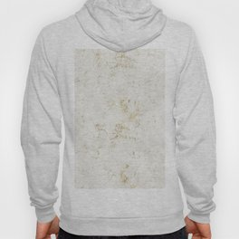 White & Gold Marble Hoody