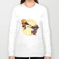 fili Long Sleeve T-shirts featuring Fiddling Fili and Kili by quelm