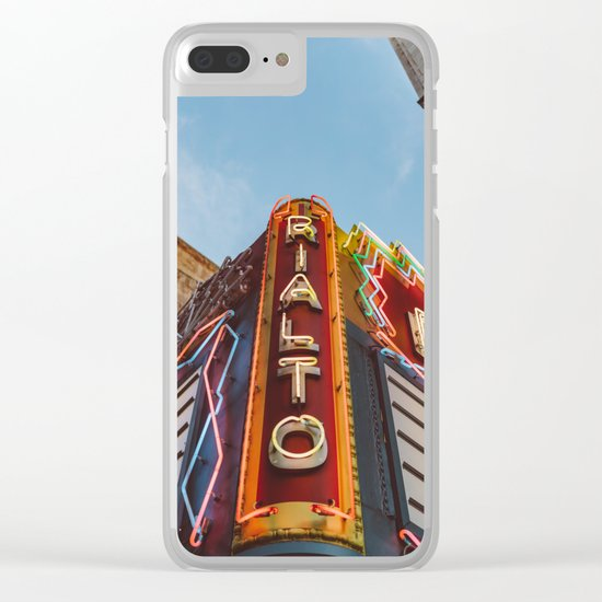 Los Angeles Rialto Theatre Clear iPhone Case