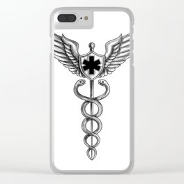 Caduceus Pilot Wings EMT Star Tattoo Clear iPhone Case