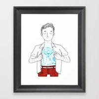Thank You Tattoo Framed Art Print