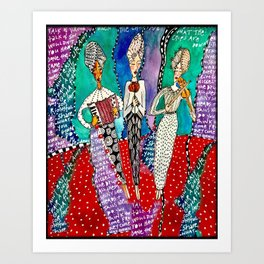 Sister Fates Art Print