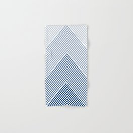 Shades of Blue Abstract geometric pattern Hand & Bath Towel