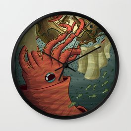 Kraken Attack Wall Clock