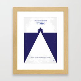 No100 My RMSTitanic minimal movie poster Framed Art Print