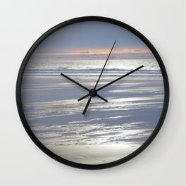 PEACEFUL BEACH WINTER SUNSET CORNWALL Wall Clock