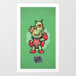 Monster Doodle Art Print