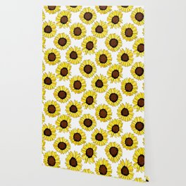 Sunflowers are the New Roses! - White Wallpaper