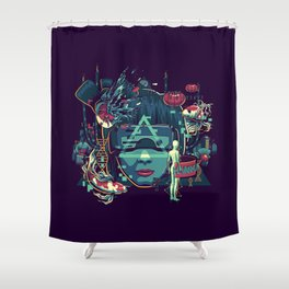 The Ghost Shower Curtain