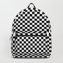 Black And White Checks Minimalist Backpack