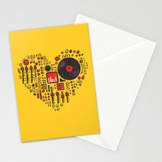 Music in every heartbeat Stationery Cards