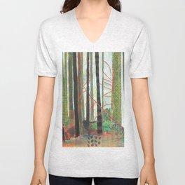 Embroidered Forest Unisex V-Neck