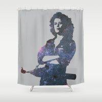 ripley Shower Curtains featuring Ellen Ripley - Alien by pithyPENNY