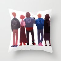 johannathemad Throw Pillows featuring the club of five by JohannaTheMad