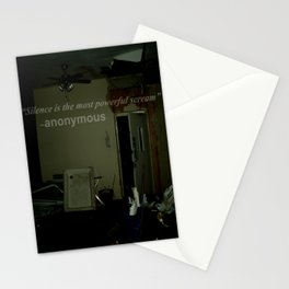 Silence is the most powerful scream. Stationery Cards