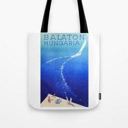 Budapest, Hungary, Balaton, vintage poster Tote Bag