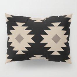 Southwestern Pattern 521 Black and Beige Pillow Sham