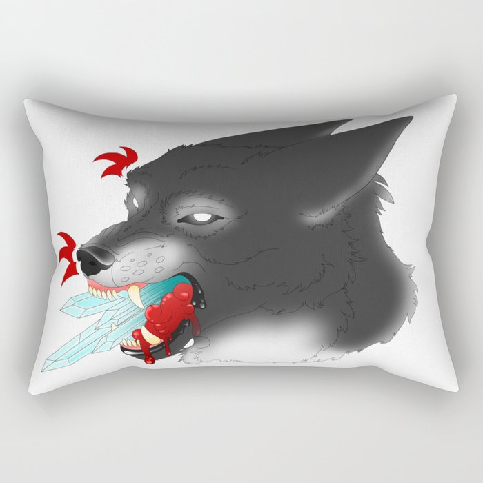 Crystal Clear Lies Rectangular Pillow