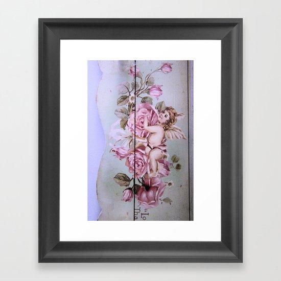 Angel Rose woodpanel Framed Art Print