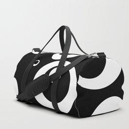 Circles Dots Bubbles :: Black Pepper Duffle Bag