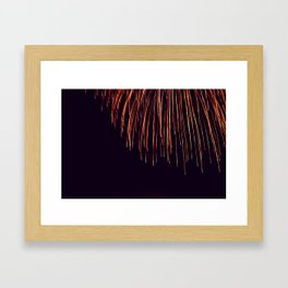 Beautiful Red and Orange Fireworks falling down in the sky! Framed Art Print