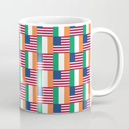 Mix of flag: usa and ireland Coffee Mug