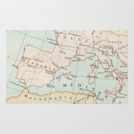 Vintage Map Of The Roman Empire Rug