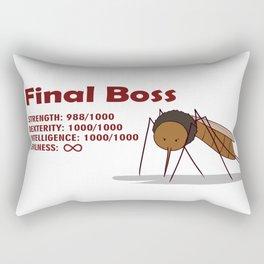 Final Boss - Red Letters Rectangular Pillow