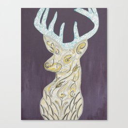 deer olive Canvas Print