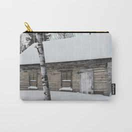 Iced Cabin in the Woods Carry-All Pouch