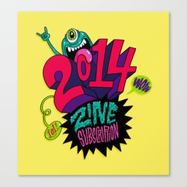 2014 Zine Subscription! Canvas Print