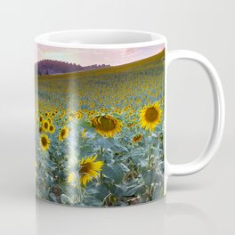 Wonderful Sunflowers. Pink Sunrise Coffee Mug