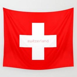 Swiss Cross - Swiss Flag Wall Tapestry